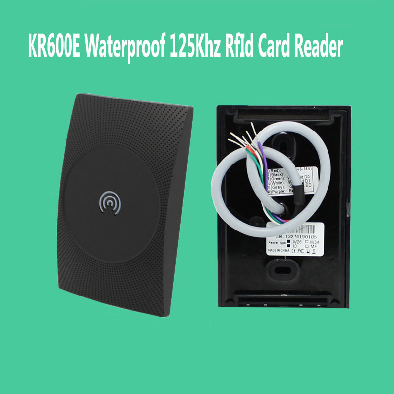 KR600E Waterproof 125Khz RfId Card Reader for Door access control system Wiegand Id Slave Reader waterproof touch keypad card reader for rfid access control system card reader with wg26 for home security f1688a
