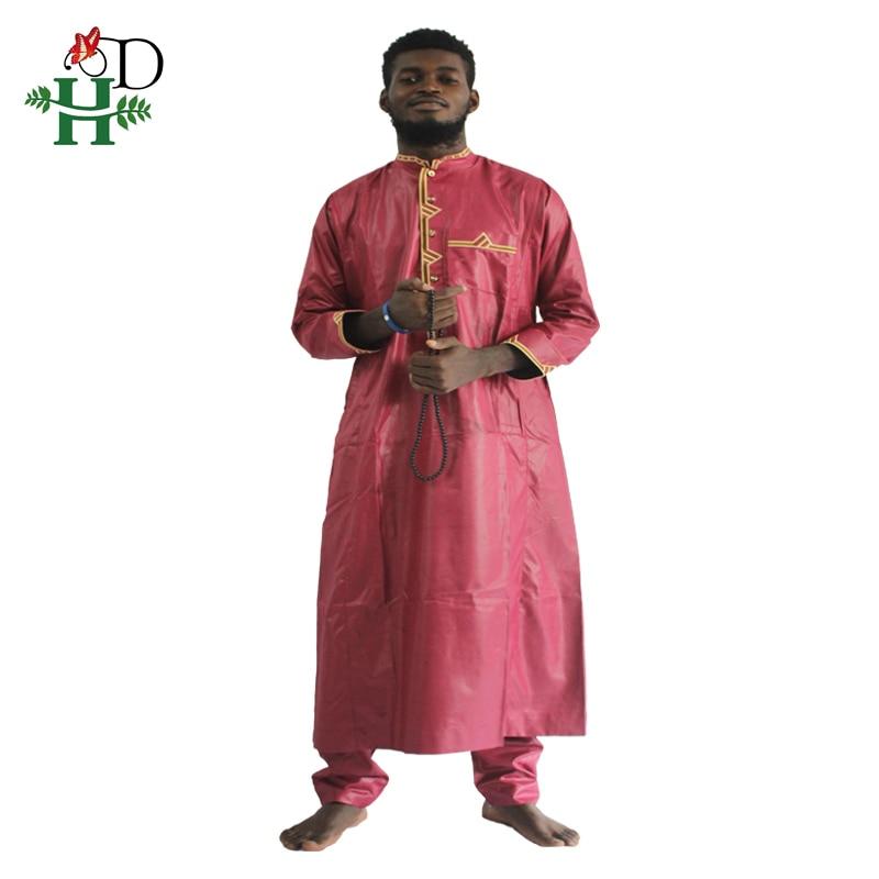 H&D african men clothing 2019 mens dashiki shirt africa bazin riche outfit clothes tops pant suits vetement africain pour homme