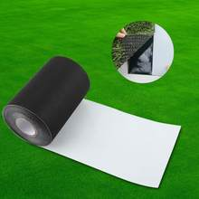 15*1000cm Self Adhesive Joining Black Tape Synthetic Lawn Grass Artificial Turf Black green colors(China)
