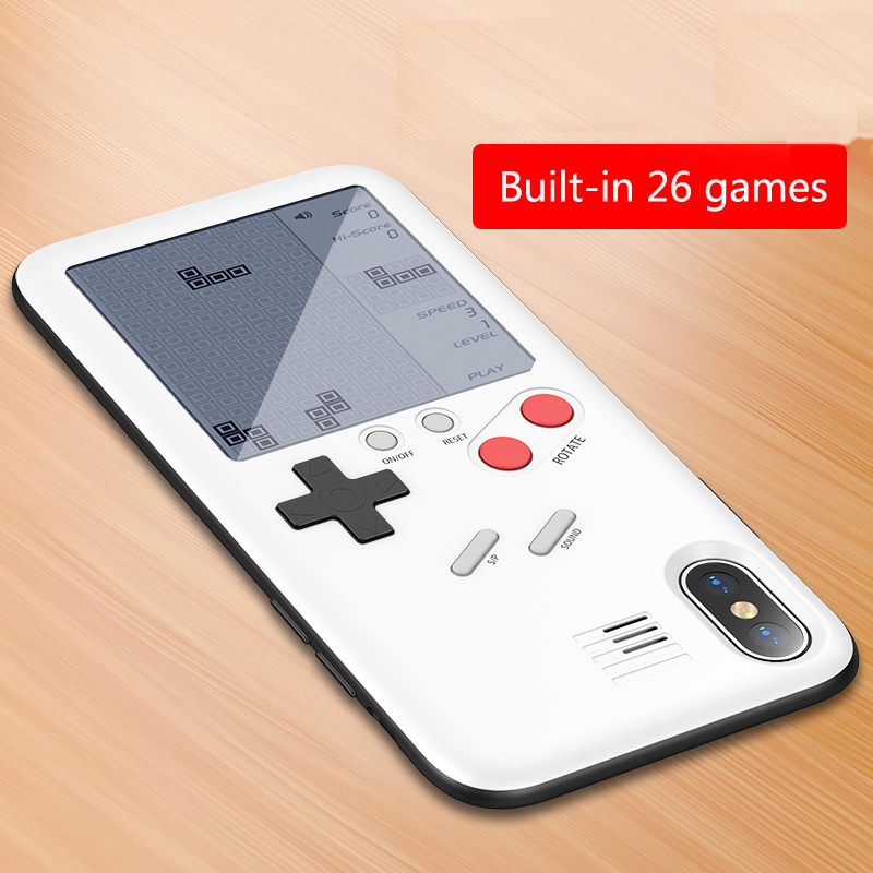 Tetris Cover Phone Case For iPhone 8 7 6 6s Plus Novelty Decompression Game Machine Back Cover For iPhone X XR XS Max Phone Case