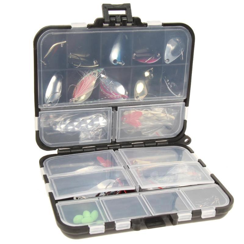 37 pçs/set Kits de Fiação Isca De Pesca Colher de Metal iscas de pesca com Caixa de Equipamento De Pesca Acessórios de Pesca equipamento de Pesca