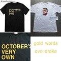 Kanbap1992 Drake camisa Harajuku t tops camisas Dos Homens octobers próprios ovoxo para mulheres funny t shirt Camisa visualizações 6 DEUS t camisa