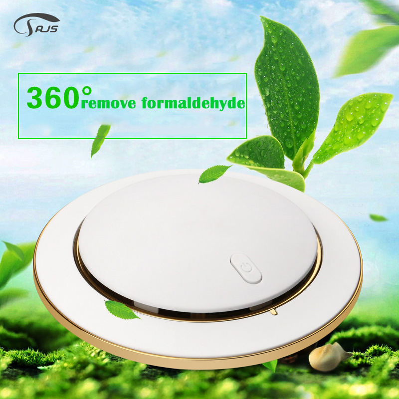 Portable Noiseless Car and Home Air Purifier UFO Shape Aroma Anion Air Freshener Air cleaner AS-2 free shipping mini portable air purifier air freshener for car and home appliances aromatherapy