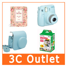 Fujilfilm Instant Mini 8 Camera + Caiul Mini8 Camera Bag + Fuji Instax Twin Pack Film + Photo Frame 64 Sheets