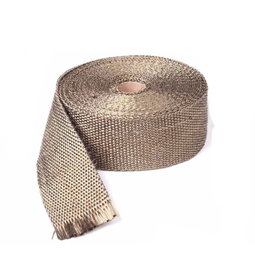 Motorcycle 10m Titanium Fiberglass Exhaust Header Pipe Heat Wrap Tape+6 Ties Kit Cruiser Chopper Cafe Racer Old School Bobber 15m high temperature header manifold exhaust wrap fiberglass roll orange page 3
