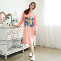 Autumn Women Nightgowns Long Sleeve Round Neck Cotton Life Nightdress Ladies Nightshirt Sleepwear Nightwear for Women