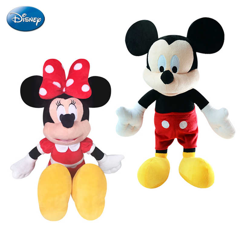 Original Disney Mickey Minnie Mouse Doll Plush Toys for Girls Dolls Stuffed Plush Children Birthday Gift Genuine Disney Toys