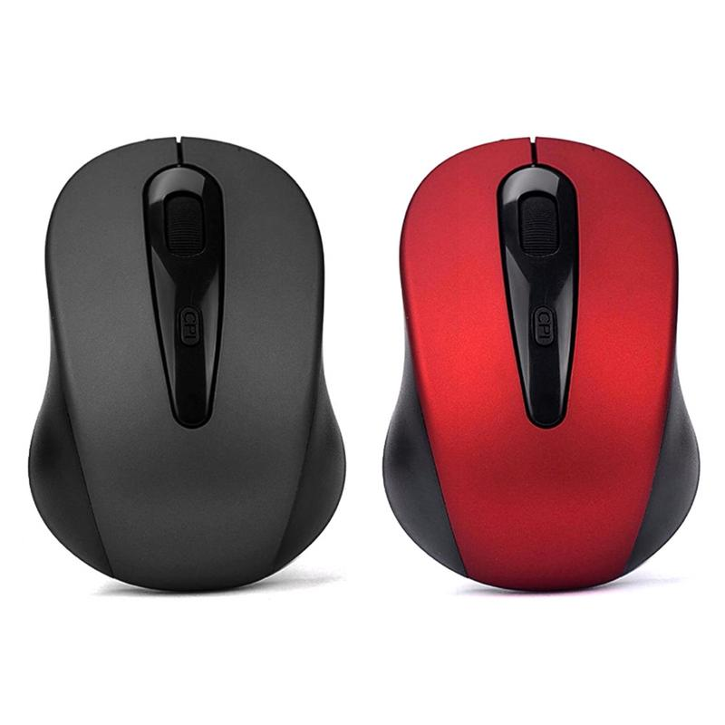 3000A 2.4GHz 4D 800/1200/1600DPI USB Wireless Optical Gaming Office Mouse Mice For Laptop Desktop PC Black/Red 15m Weight Light