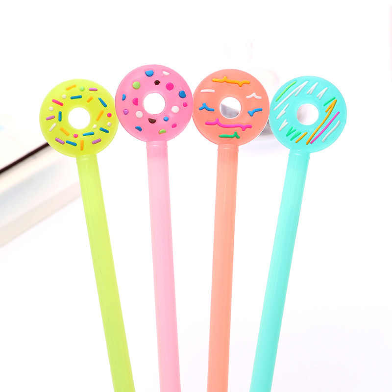 1pcs Sell Doughnut Gel Pens Student gel Ink Pen School Office Supplies Learning Stationery Wholesale