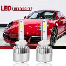 Newest 2pcs S2A-H13/9008 COB LED Car Headlight Bulb Hi-Lo Beam 30W 3000LM Auto Headlamp
