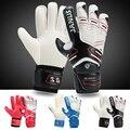 Tamaño 7-10 profesionales guantes de portero de fútbol dedo proteger guantes futbol portero de fútbol guantes de portero arquero