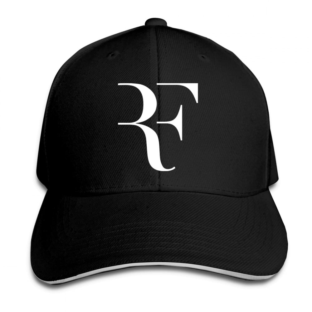 Mens Womens Roger Federer Rf Print Baseball Cap Adjustable