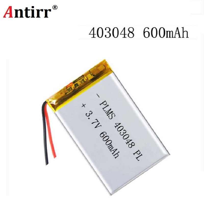 3,7 V 600mAH 403048 PLIB/polímero de iones de litio/batería de iones de litio para GPS mp3, mp4 teléfono móvil altavoz DVR grabadora