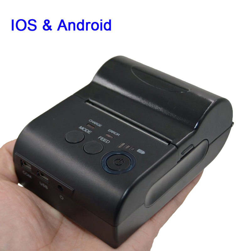 Quality 2 inch mini impressora bluetooth for IOS & Android with USB + COM interface portable thermal receipt printer HS-585AI 2 inch mini pos thermal printer with usb rs232 interface small size and light weight design special for bus billing printing