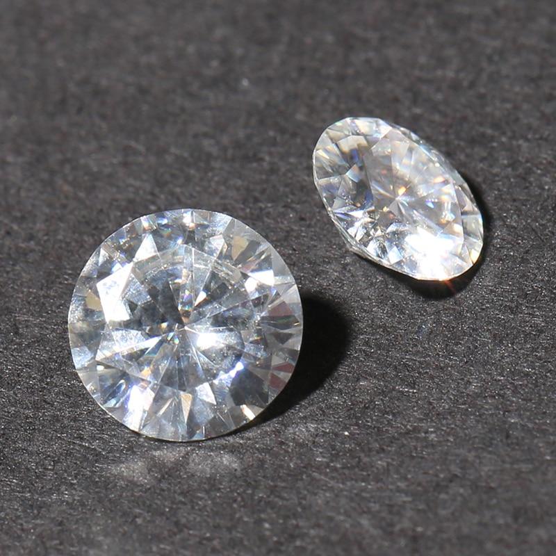 TransGems 1 Piece 11mm 5 Carat Certified F Colorless Moissanite Loose Lab Grown Diamond Bead Test As Real Diamond Gemstone
