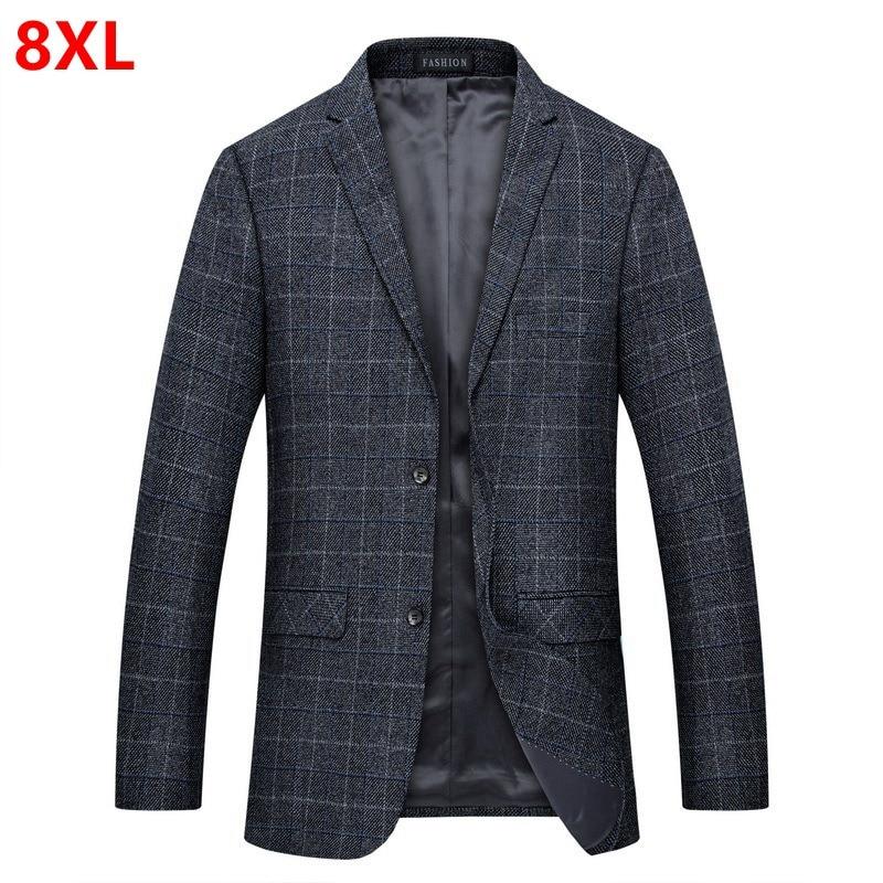 Autumn New Men's Suit Jacket Men's Casual Men Plus Size 7XL 8XL Male Blazers