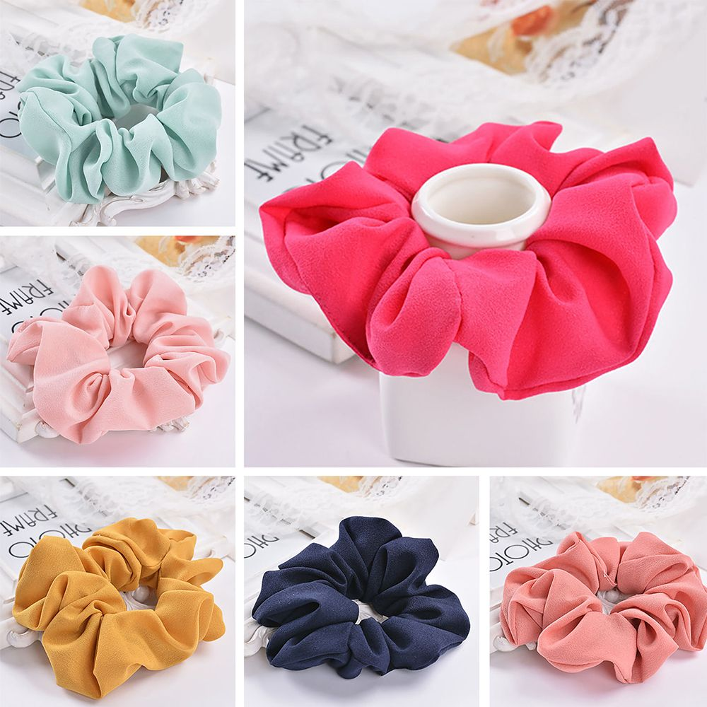 Trendy Lady Hair Scrunchie Ring Elastic Pure Color Bobble Sports Dance Scrunchie Women Girls Hair Accessories 2019 Hot Sale