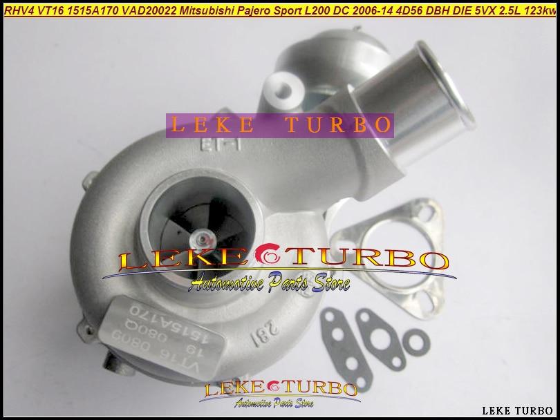 Turbo 1515A170 VT16 VT-16 VAD20022 Turbocharger For Mitsubishi Pajero Sport L200 DC 2006-2014 Engine 4D56 DBH DIE 5VX 2.5L 123kw td04 49177 01504 49177 01504 4917701504 mr355222 turbine turbo turbocharger for mitsubishi l200 shogun 4d56 2 5l water cooled