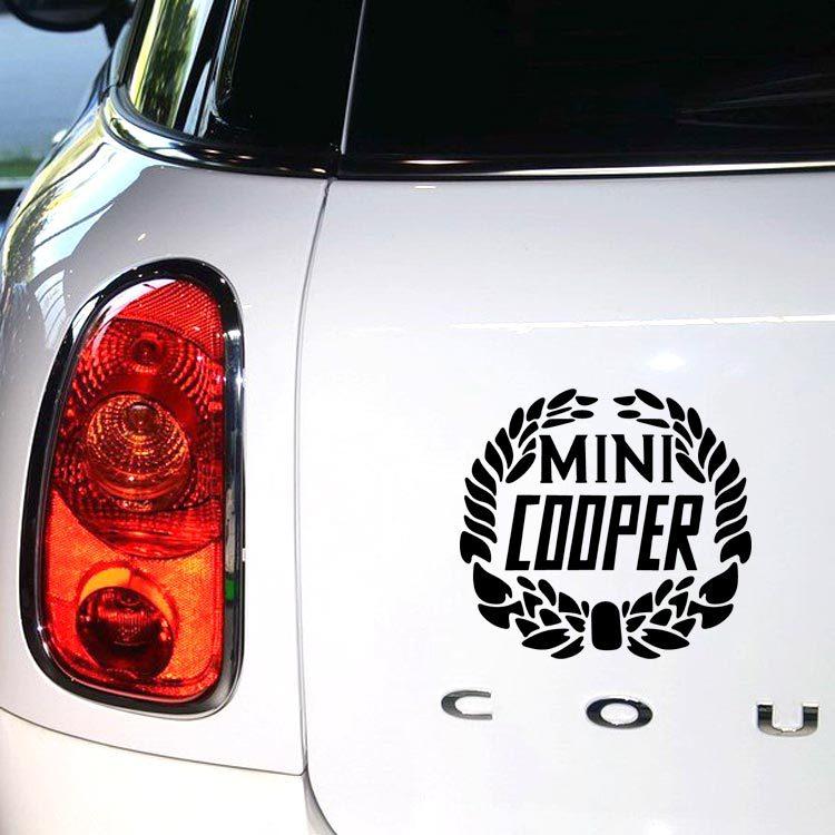 Новинка, декоративные наклейки для автомобиля, мини лавровый цветок, пшеница, наклейки для Mini Cooper Clubman Roadster, земляк, Paceman купе JCW - Название цвета: Black