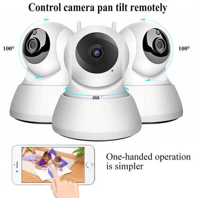Wireless 1080P Wifi IP Pet Remote Monitoring Camera With 2 Way Audio