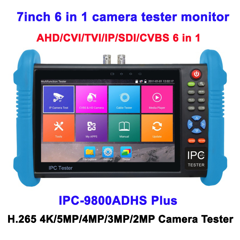 7Inch 6 in 1 AHD CVI TVI SDI IP CVBS CCTV Tester H.265 4K POE WIFI Camera Test Pro 1280*800 touch screen CCTV Tester Monitor 7inch capacitive touch screen ips lcd test monitor with touch analog ip ahd cvi tvi sdi camera tester