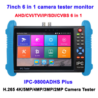 7Inch 6 in 1 AHD CVI TVI SDI IP CVBS CCTV Tester H.265 4K POE WIFI Camera Test Pro 1280*800 touch screen CCTV Tester Monitor