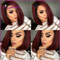 Top 7A T1B/Burgundy human hair bob wigs Lace Front Wigs Black Women Glueless Full Lace human hair Wigs With Baby Hair Lace Wigs