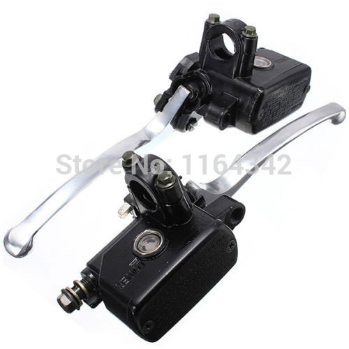 1 pair Black Universal Motorcycle 1 25mm Handlebar Clutch Master Cylinder Lever