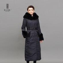 BASIC Winter Jacket Women Long Parka Luxury Fur Rex Rabbit Collar Thinsulate Cotton-Padded Women Warm Wadded Jackets WM120