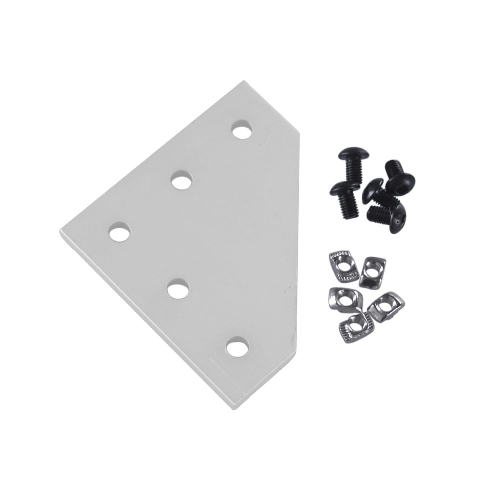90 Degree L Shape Outside Joining Plate with M8 4040 Series T Nuts and M8x16mm Semi-round Hex screws Combination90 Degree L Shape Outside Joining Plate with M8 4040 Series T Nuts and M8x16mm Semi-round Hex screws Combination