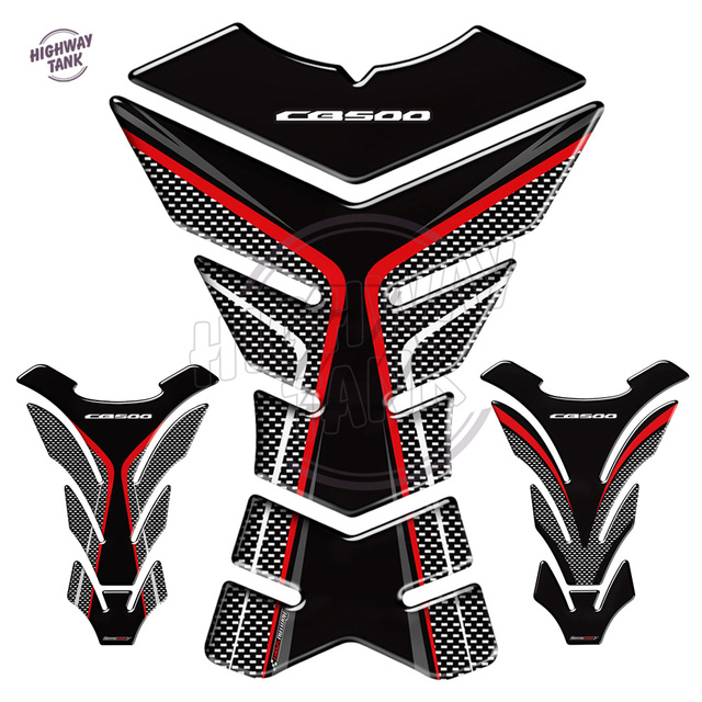 3D Motorcycle Tank Pad Protector Decal Stickers Case for Honda CB500 F X CB500F CB500X