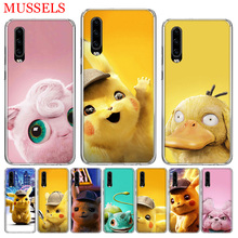 Pikachue Movie Popular Phone Case for Huawei P30 P20 Mate 20 10 Pro P10 Lite P Smart + Plus Z 2019 Customized Cover Cases Coque