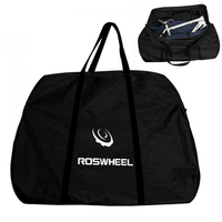 ROSWHEEL Bike Travel Case Foldable Transport Bag Carrier Bag Mountain Road Bike Carrying Case with Fork Protector