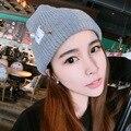 Las mujeres Gorros de Lana Sombrero Femenino Del Otoño Nueva Corea Pin Perla de Tela Estándar Sombrero, de punto Sombrero de La Manera
