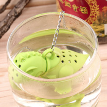 2016 Popular Reuseable Cute Silicone Dinosaur Tea Infuser Loose Leaf Strainer Herbal Holder Tea Coffee Punch Filter Tea Infuser