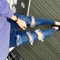 2016 Stretch ripped Jeans Women Skinny High Waist boyfriend Jeans for Women Autumn Femme Plus Size denim Trousers Women's Pants