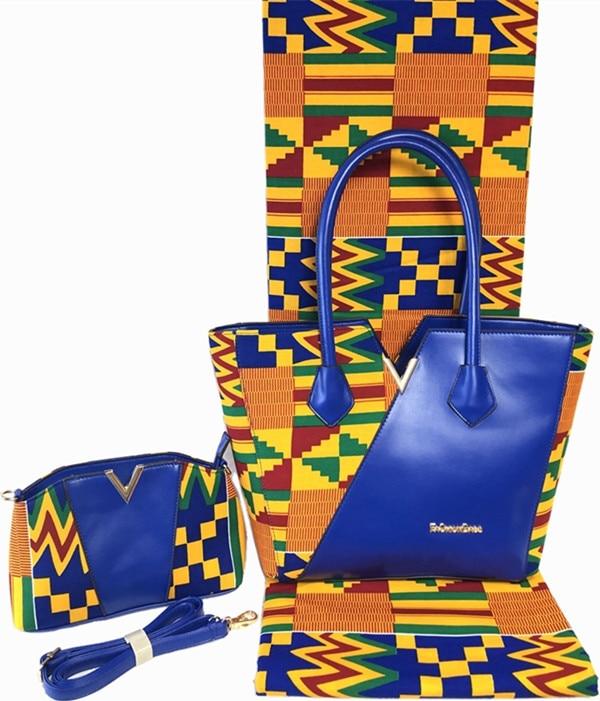 Ev ve Bahçe'ten Kumaş'de Afrika kumaş ile 2 adet kadın çanta ankara kumaş afrika balmumu baskılar kumaş 6yards % 100% pamuk kumaş patchwork TN A1'da  Grup 1