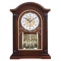 ¡Nuevo! reloj De Mesa De madera con movimiento silencioso De cuarzo, relojes De escritorio De cristal Masa Saati Relogio De Mesa, reloj musical Hour Chiming Saat