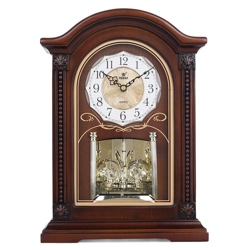 POWER Brand New Wood Table Clock Silent Quartz Movement Desk Clocks Crystal Masa Saati Relogio De Mesa Music Hourly Chiming Saat