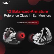 TRN X6 6BA Monitor/a słuchawki zrównoważona armatura kierowcy Hi Fi Stereo przewodowe słuchawki sportowe profesjonalny Dj słuchawki douszne 2Pin odpinany