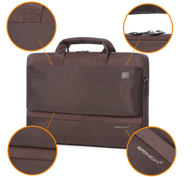 15 15.6 Inch Nylon Computer Laptop Solid Notebook Tablet Bag Bags Case sleeve Messenger Shoulder unisex men women Durable