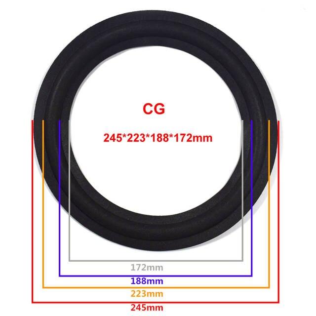 10 inch Speaker Foam Surround Edge Woofer Repairing Folding Edge Subwoofer  Ring DIY Repair Accessories Speaker Suspension