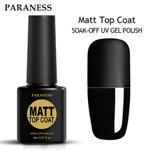Paraness Matt 8ml Gel Nail Polish Surface No Light Soak-Off Matt Top Coat UV LED  Transparent Color Nail Gel Polish Matte Art