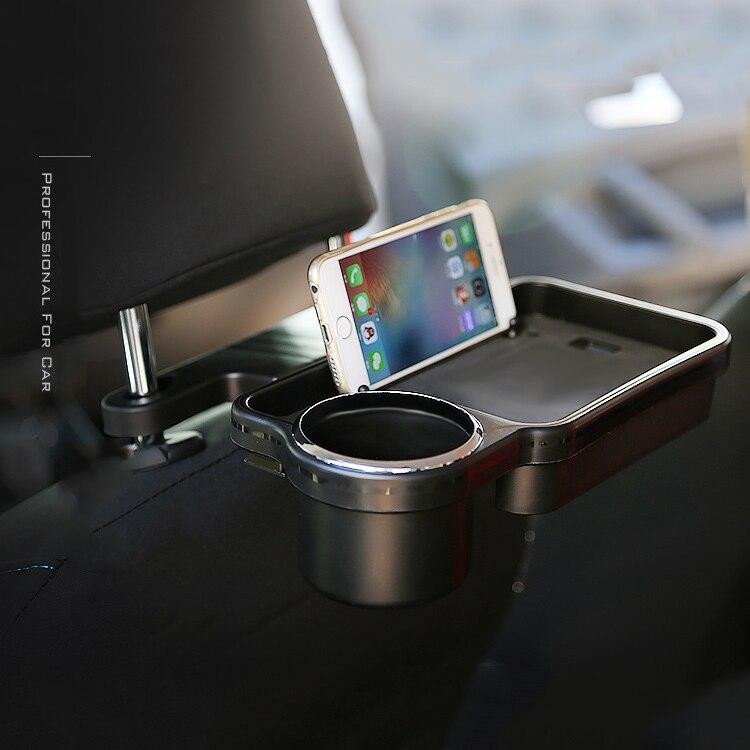 Новый авто сзади заднего сиденья столовый напиток Еда Кубок лоток держатель Настольная подставка крепление заднем сиденье автомобиля подн... ...