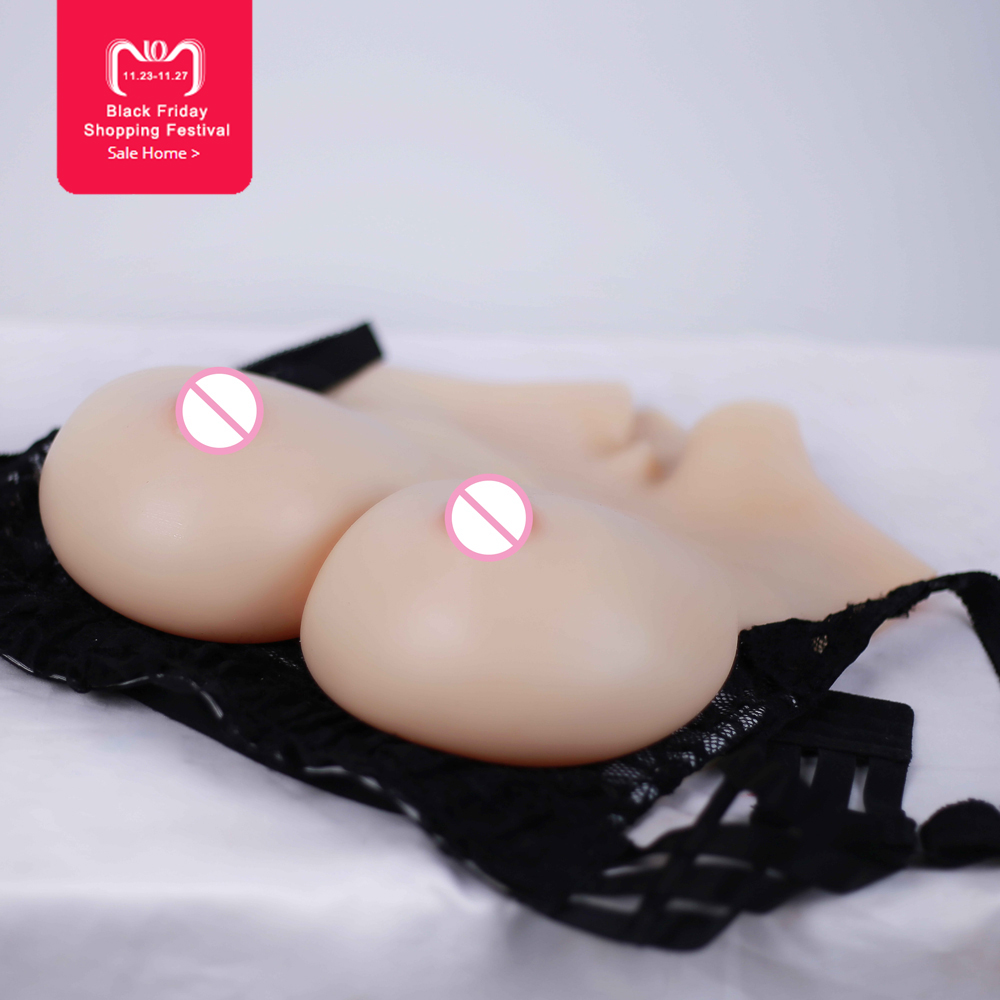 Solid E cup Breast Forms Realistic Silicone Artificial Boobs Enhancer Crossdresser chest Trandsgender Valentine s day