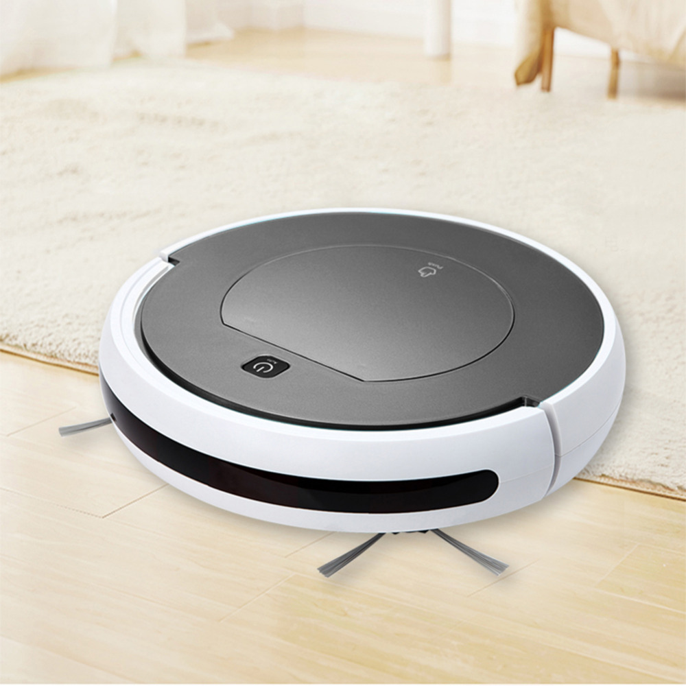 Robot Vacuum Cleaner Home Robotic Vacuum Cleaner Clean Sweeping Machine Intelligent Infrared Remote Control with 1000PA Suction multifunctional intelligent robotic vacuum cleaner for home big suction nozzle remote control planned cleaning route fr e