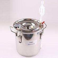 Spare Parts For Moonshine Still / Home Distiller: Stainless Fermenter Pot Boiler & Thermometer & Air Lock pot still set