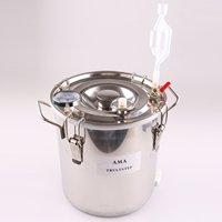 Spare Parts For Moonshine Still / Home Distiller: Stainless Fermenter Pot Boiler & Thermometer & Air Lock