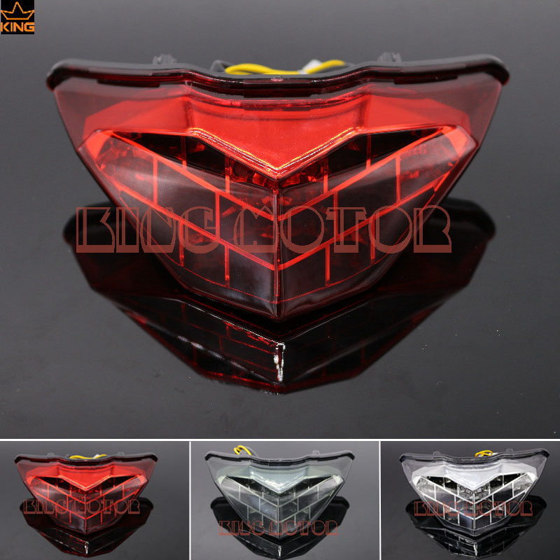 For KAWASAKI NINJA 250/300 Z250 2013-2016 Motorcycle Accessories Integrated LED Tail Light Turn signal Blinker Red for kawasaki ninja 250 300 z250 2013 2016 motorcycle accessories integrated led tail light turn signal blinker clear