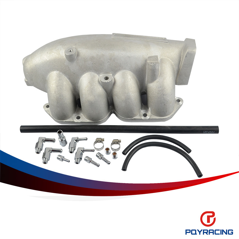 PQY RACING - NEW INTAKE MANIFOLD FOR SILVIA 200SX S14 240SX SR20 SR20DET BIG PERFORMANCE TURBO INTAKE MANIFOLD /CAST PQY- IM31SL pqy racing cast aluminium intake manifold for 93 98 supra 2jzgte for toyota 2jz intake manifold high quality new brand